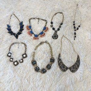 7 piece Statement necklace bundle